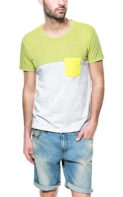 COLOR BLOCK T-SHIRT - T-shirts - Man - ZARA United States