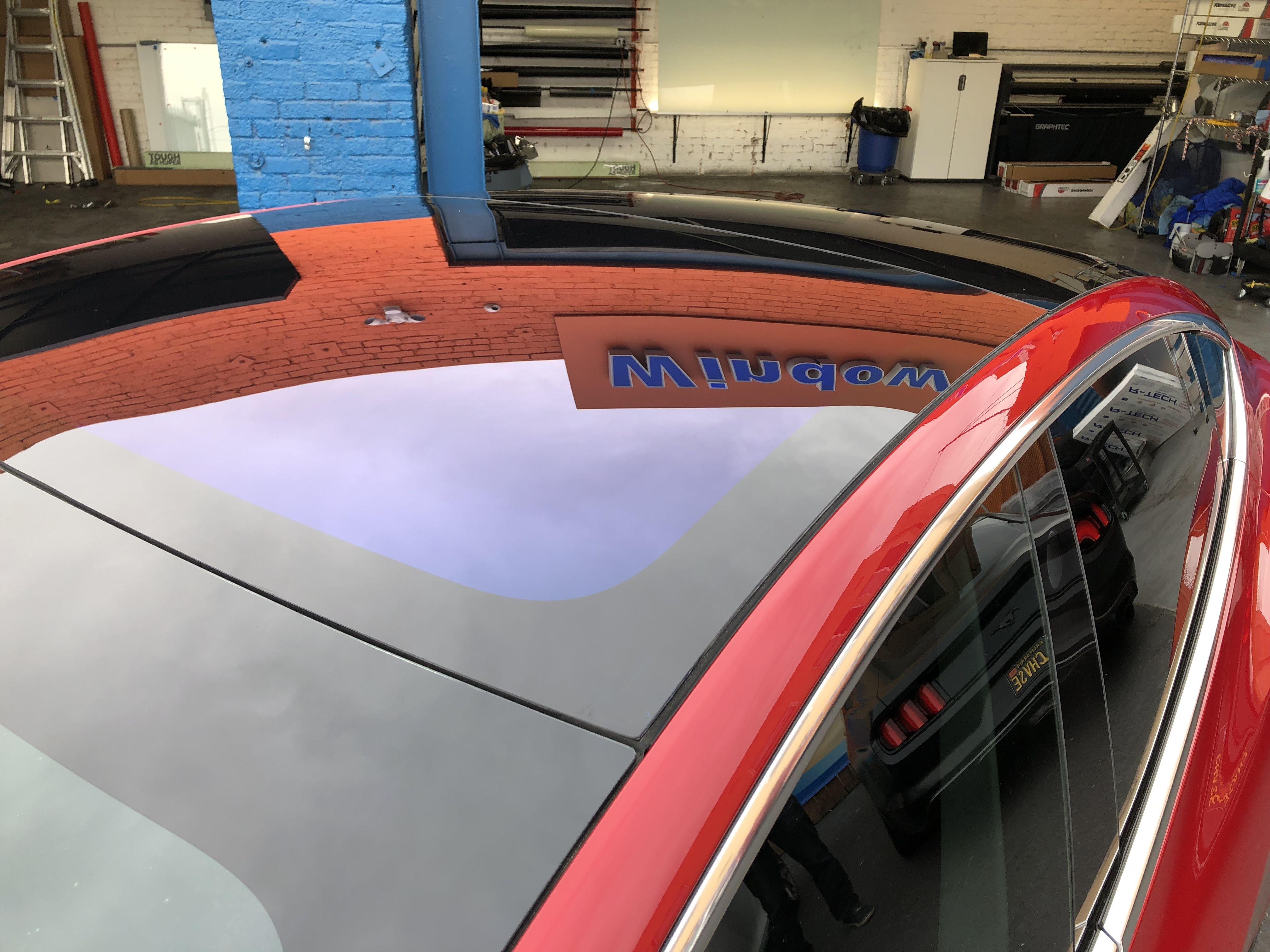 Huper Optik Ceramic Tint 70 Applied To The Sunroof Of This Tesla Model 3 Tinted Windows Tints Tesla Model