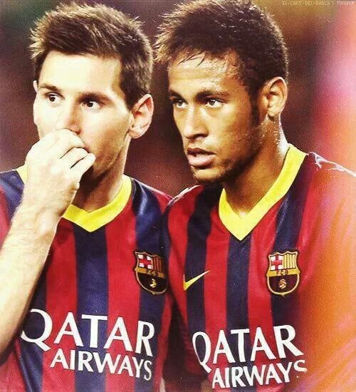 Messi Neymar Lets Win The World Cup Voetbal Posters Voetbal Poster