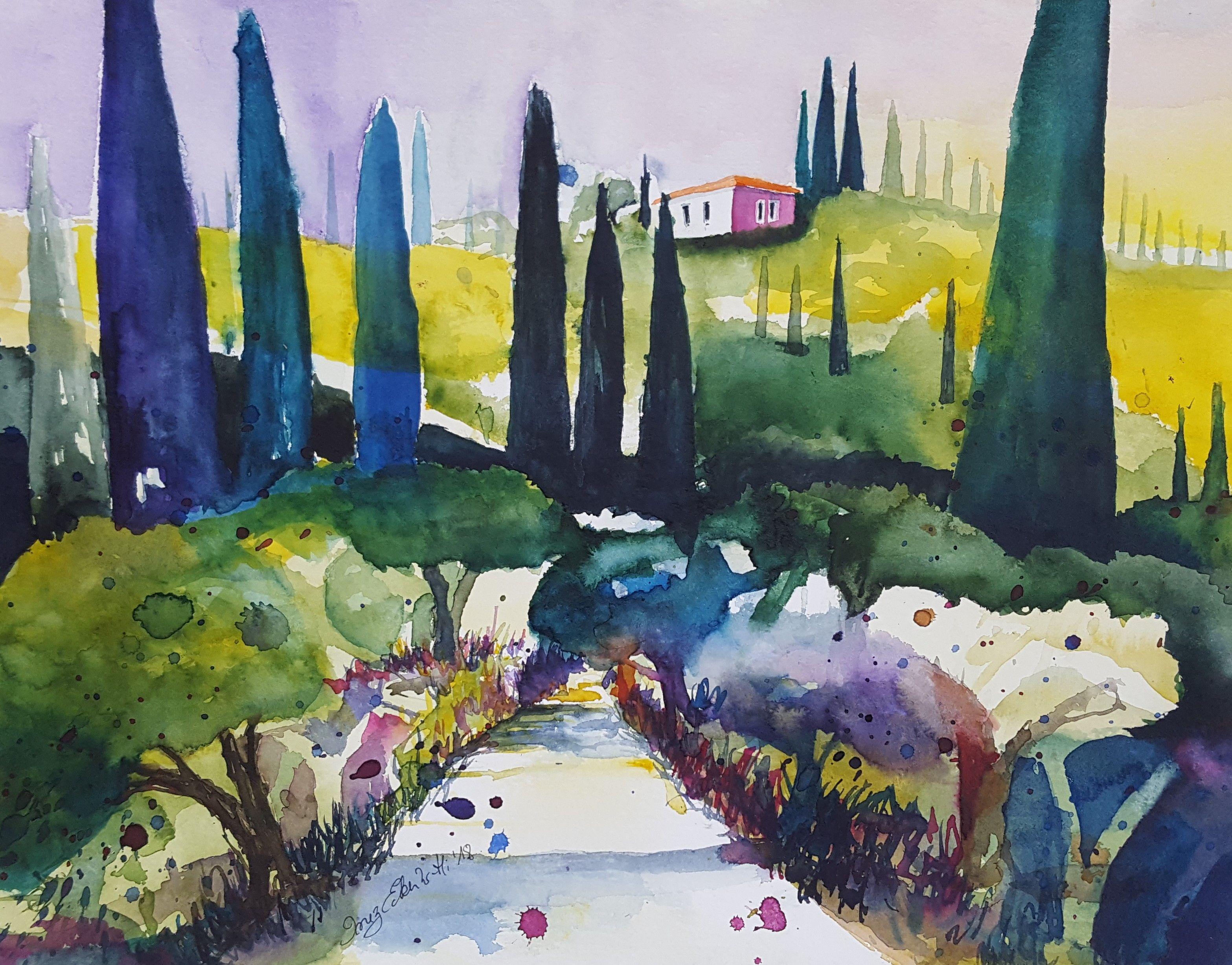 Watercolor Landscape Tutorial How To Paint A Watercolor Landscap