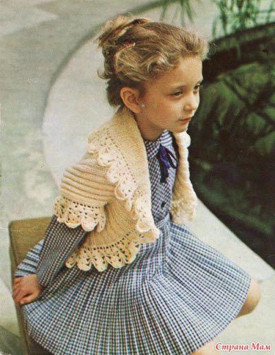 вязание болеро для девочек детей вязание спицами плетиво