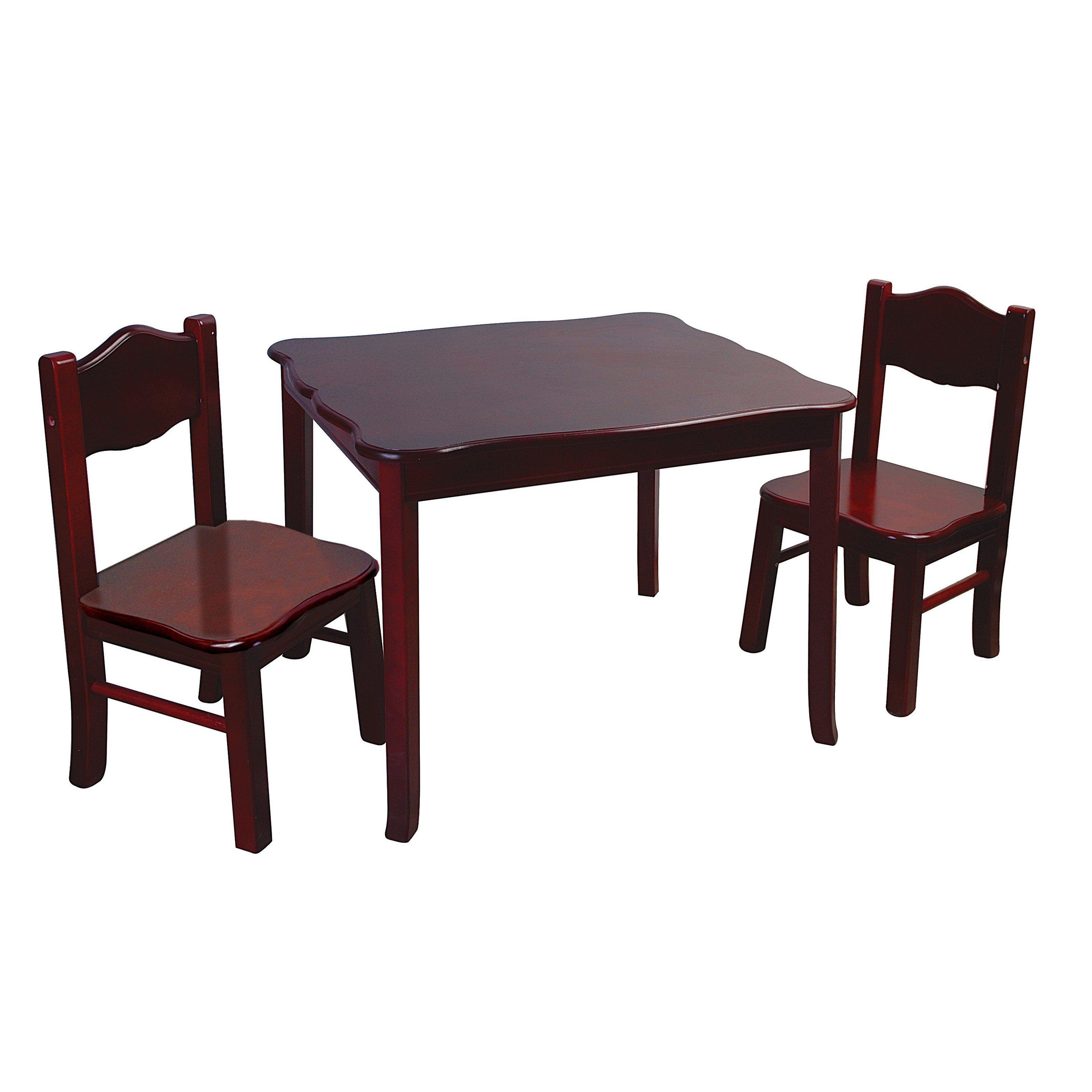 Guidecraft Classic Espresso Table & Chair Set www