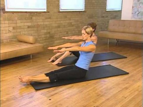 50 minutes pilates workout class for beginners  step