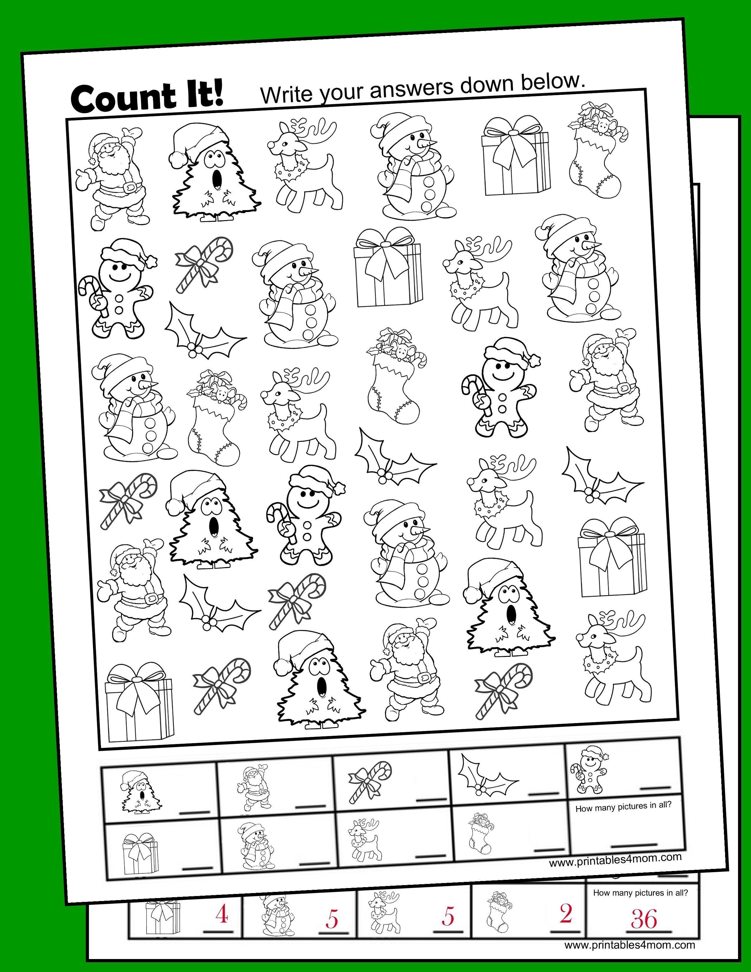 Christmas Free I Spy Printable Activity For Pre K Through