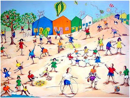 Pinturas Sobre Brincadeiras Pesquisa Google Brincadeiras Para
