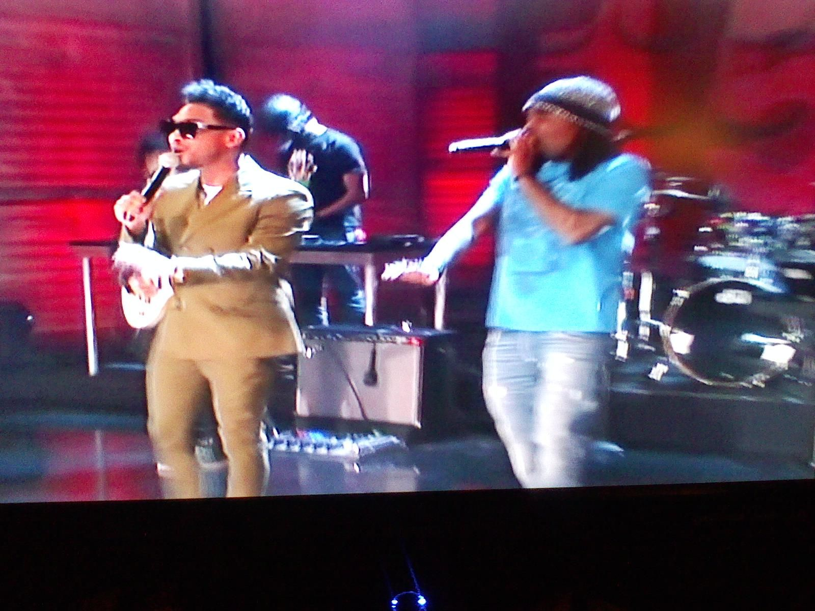 Miguel and Wale Performing Lotus Flower Bomb on Conan Feb
