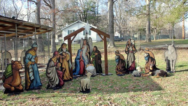 Life Size Nativity Lawn Display Outdoor Yard Art Christmas Nativity Scene Display Outdoor Nativity Yard Nativity Scene