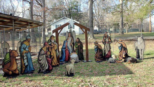 Life Size Nativity Lawn Display Outdoor Yard Art Christmas Nativity Scene Display Yard Nativity Scene Nativity Scene Display