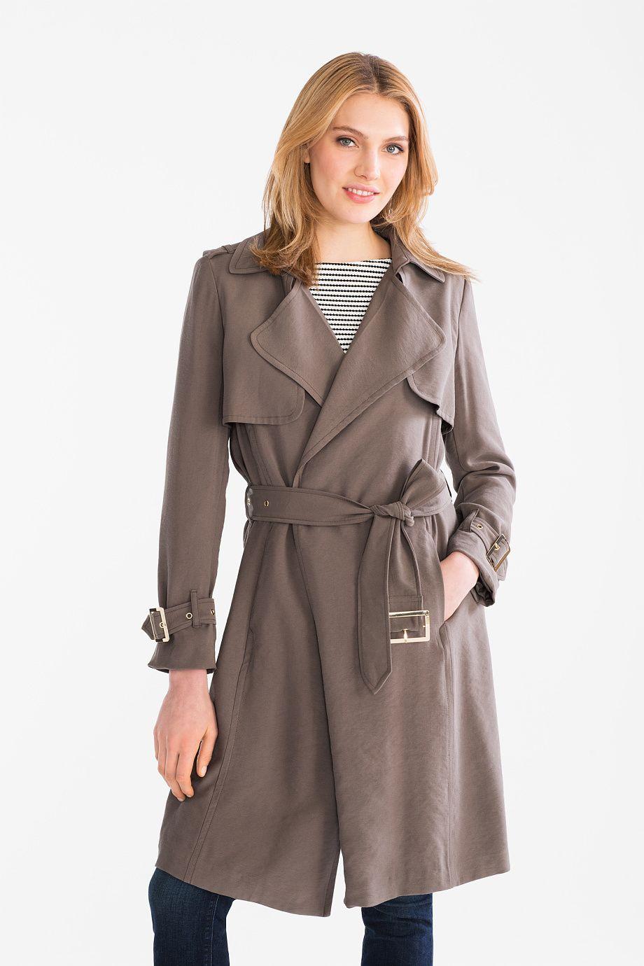 Women Business trench coat dark green   Coat, Fashion