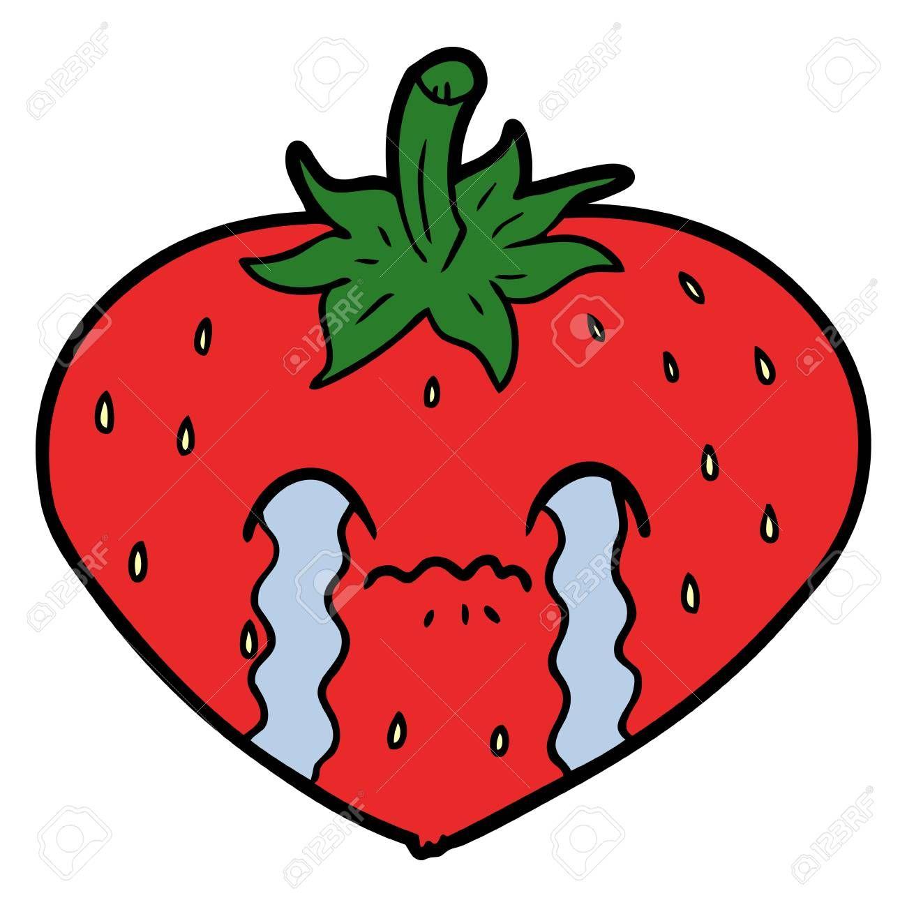 Crying Strawberry Cartoon Illustration Affiliate Strawberry Crying Illustration Cartoon Kids Rugs Cartoon Illustration Cartoon