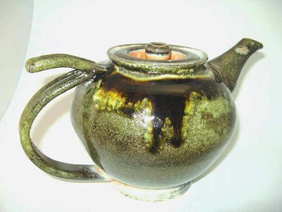 32 oz Ceramic Teapot by RockPondPottery on Etsy, $60.00