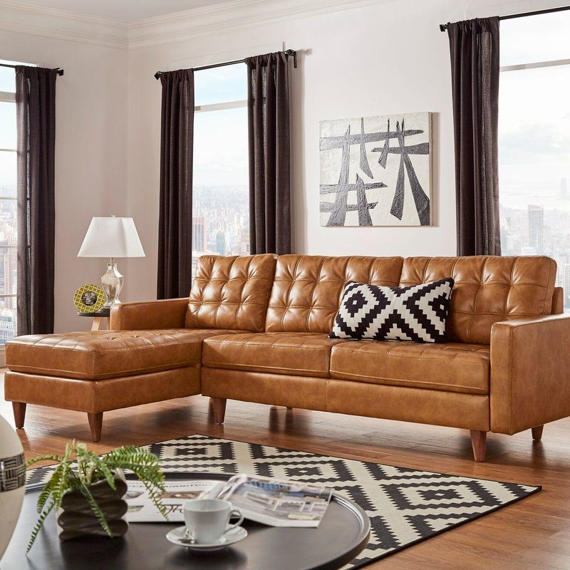 Lexington Avenue Hoenheim Sectional Furniture Leather Sofa Living Room Lounge Design