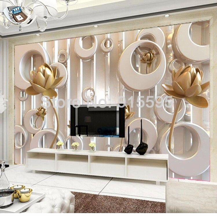Large 3d European Pearl And Rose Jewelry Tv Background: Ghim Trên Thing Is The Wallpaper 3D