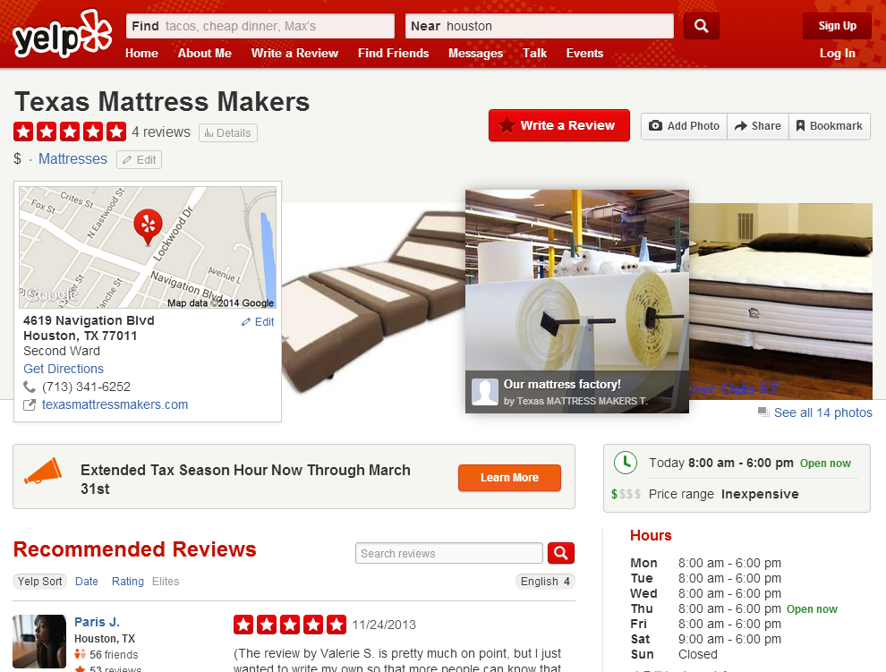 Visit Us On Yelp To Read Customer Reviews And Find More Information About Our Showroom Location And Hours Search Y Social Media Pages Find Friends Informative