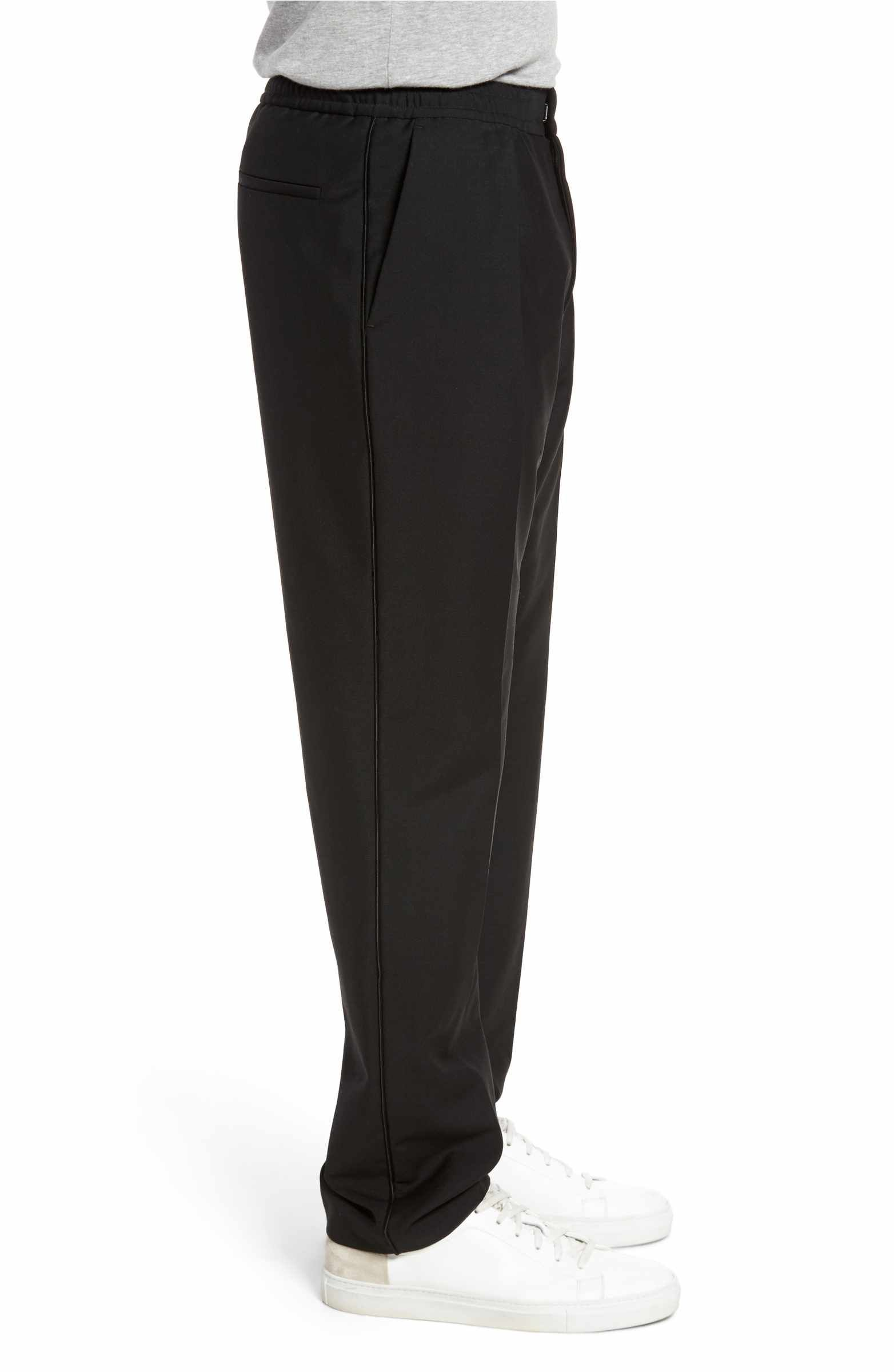 2794f325a6e33 Main Image - BOSS Payton Pleated Solid Wool & Mohair Jogger Trousers ...