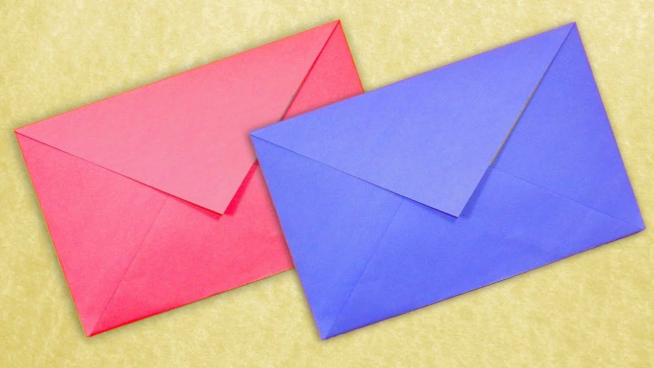 Paper Envelope Without Glue How To Make An Envelope Diy Easy Origami How To Make An Envelope Diy Envelope Tutorial Homemade Envelopes