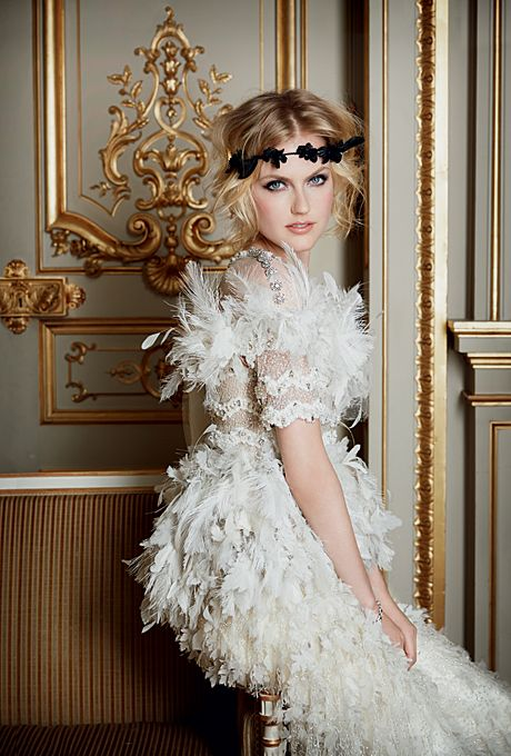 Haute Couture Wedding Dresses French Wedding Style | Embroidered ...