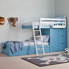 Kinderhochbett treppe  kinderhochbett schrank treppe teppich | kinderbett | Pinterest