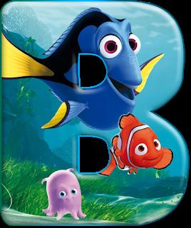 Abecedario Buscando A Nemo Y Buscando A Dory Finding Nemo Alphabet With Dory Buscando A Nemo Abecedario Nemo Y Dory