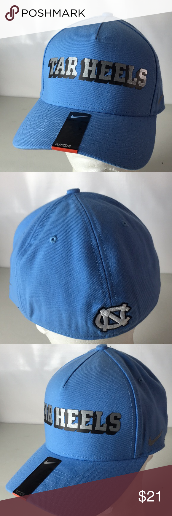 best website 1f2f3 90953 Nike North Carolina Tar Heels Hat NCAA Spellout New Nike Dri-Fit flex  Stretch Fit