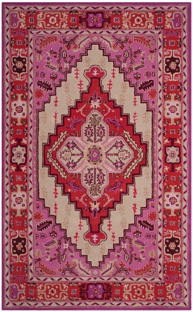 Safavieh Bellagio Blg545a Red Pink Ivory Area Rug Design Area Rugs Rugs On Carpet
