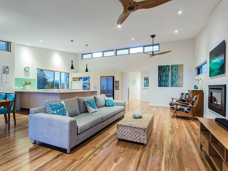 Beach Style House Timber Floors Trinidad Ceiling Fan