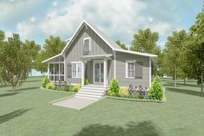 Plan 130011lls Cozy 2 Bed Farmhouse Cottage With Loft In