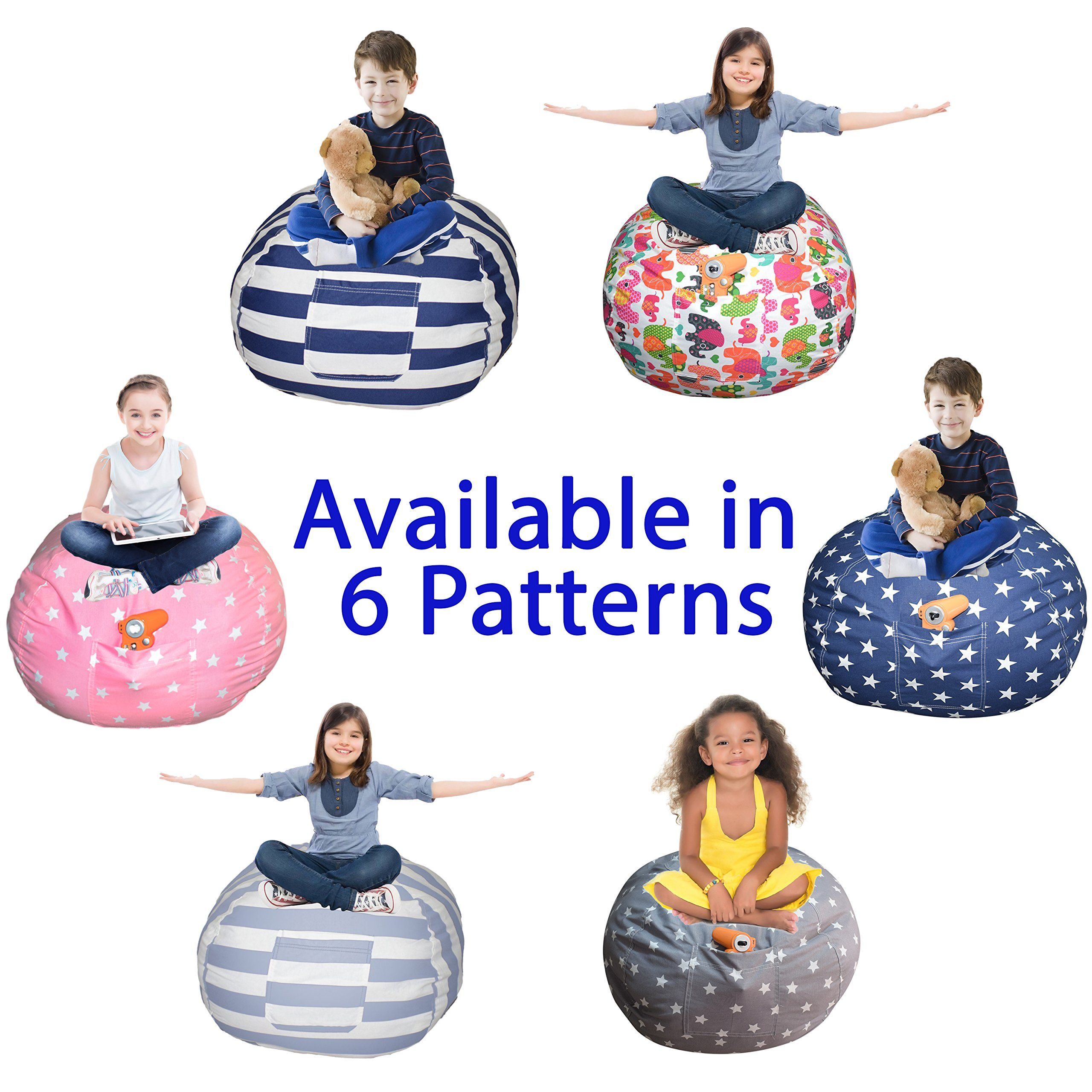 Extra Large Stuffed Animal Storage Bean Bag Cover Lab Tested Product The Ultimate Stuffed Animal Storage Large Stuffed Animals Bean Bag Chair Kids