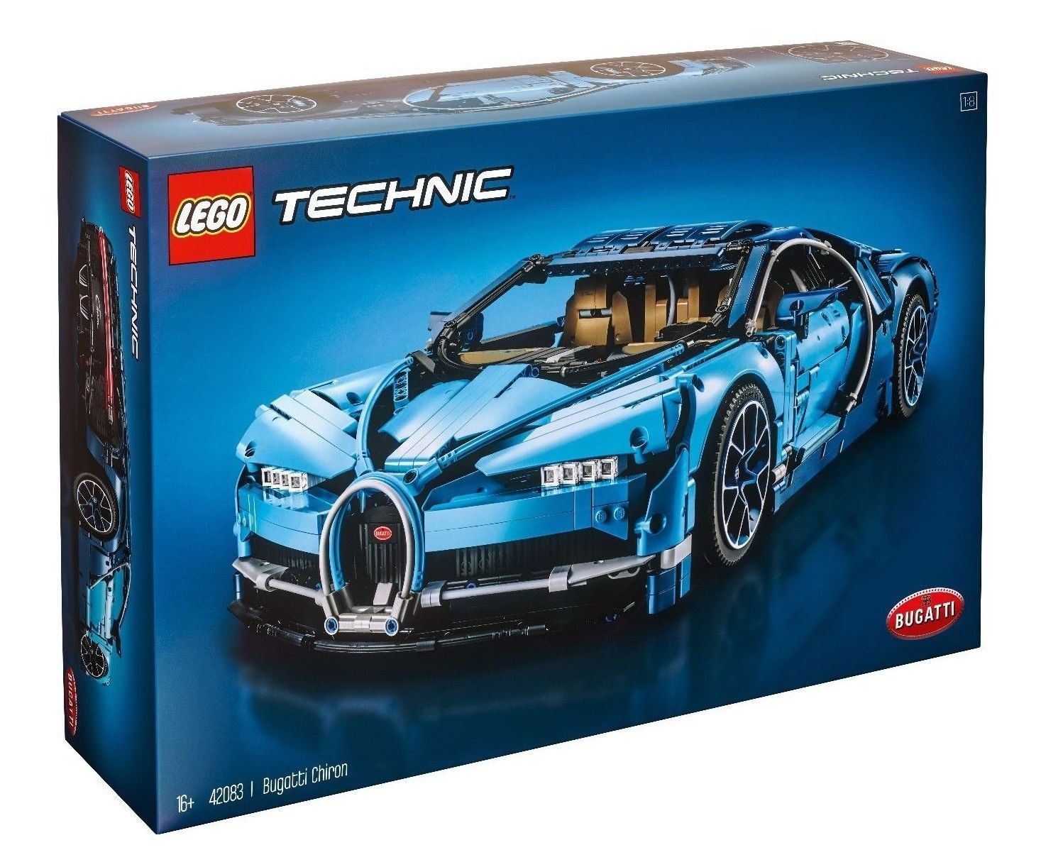 Lego Technic Bugatti Chiron Blue Race Car Set 42083 1 8 Scale Replica Model Bugatti Chiron Bugatti Lego Technic