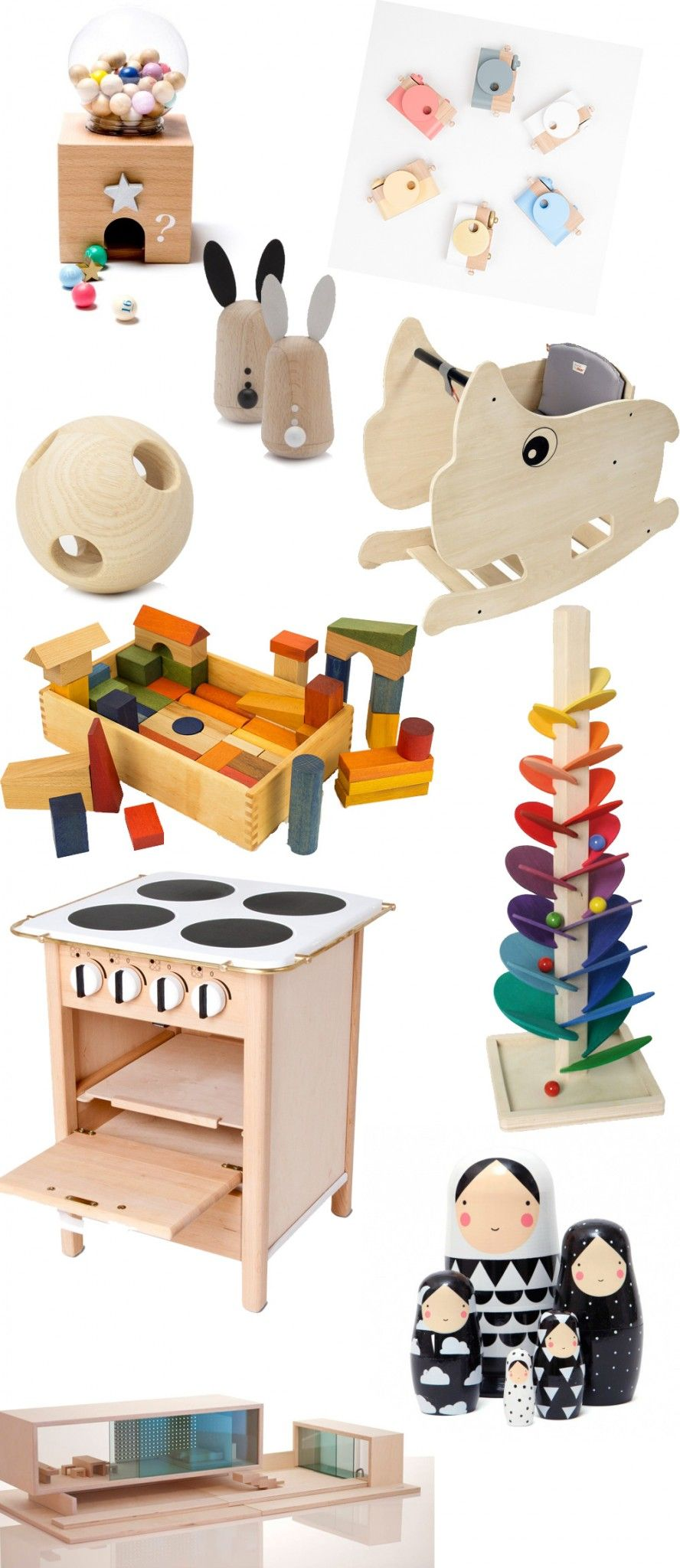 Design für Kinderzimmer Schönes Spielzeug aus Holz
