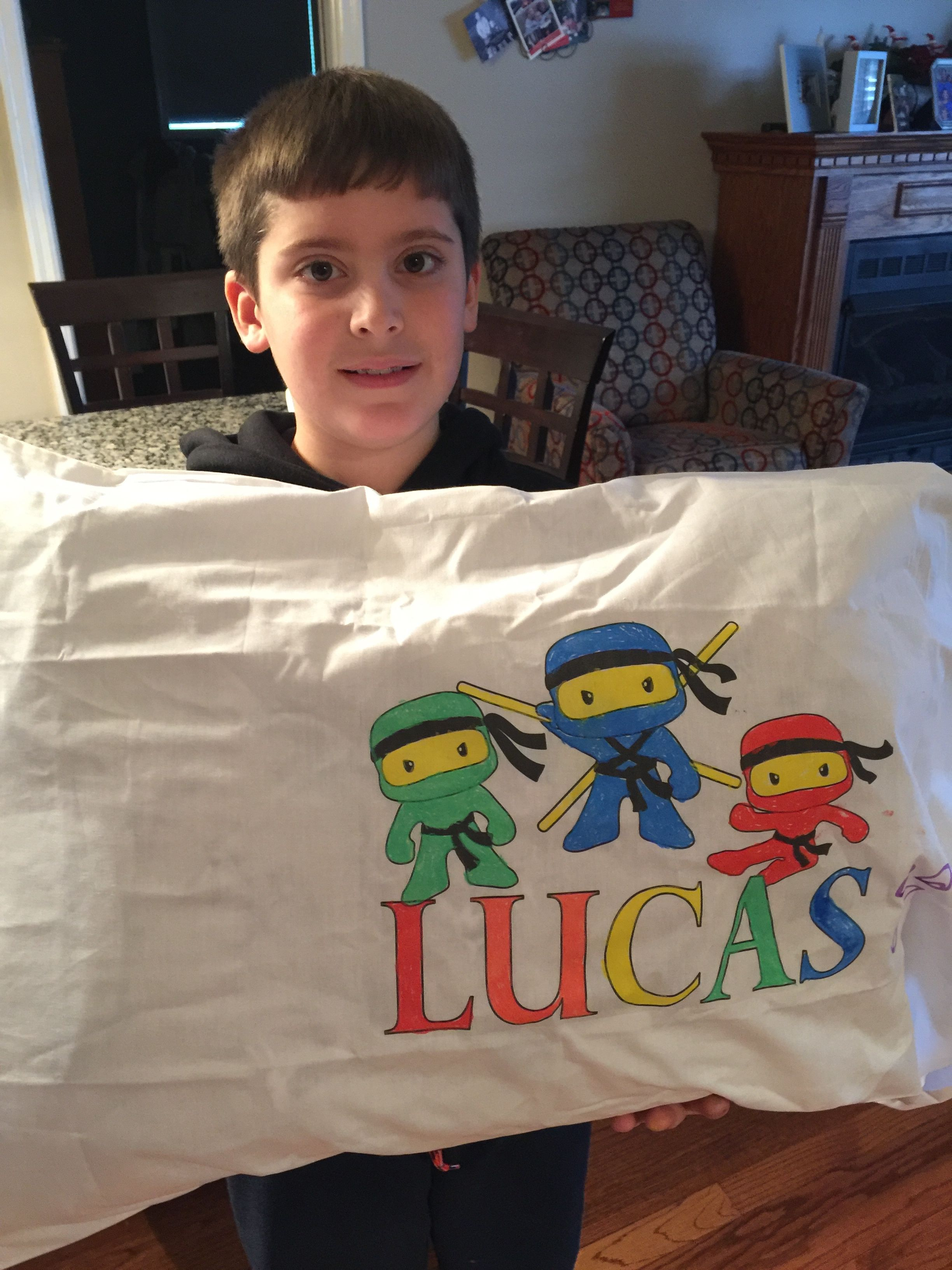 Personalized Color-On Pillowcases $7.95