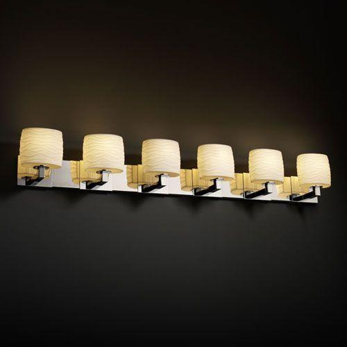 Limoges Modular Six-Light Antique Brass Bath Fixture - (In Antique Brass)