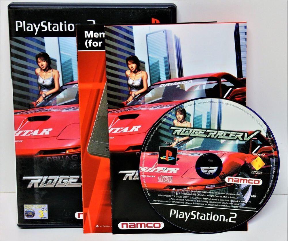 Car Games: PLAYSTION 2 RIDGE RACER V 5 GAME GAMING COMPUTER PS