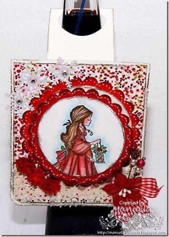 Bottle tag #card #papercraft #cardmaking #paper #handmade #tag