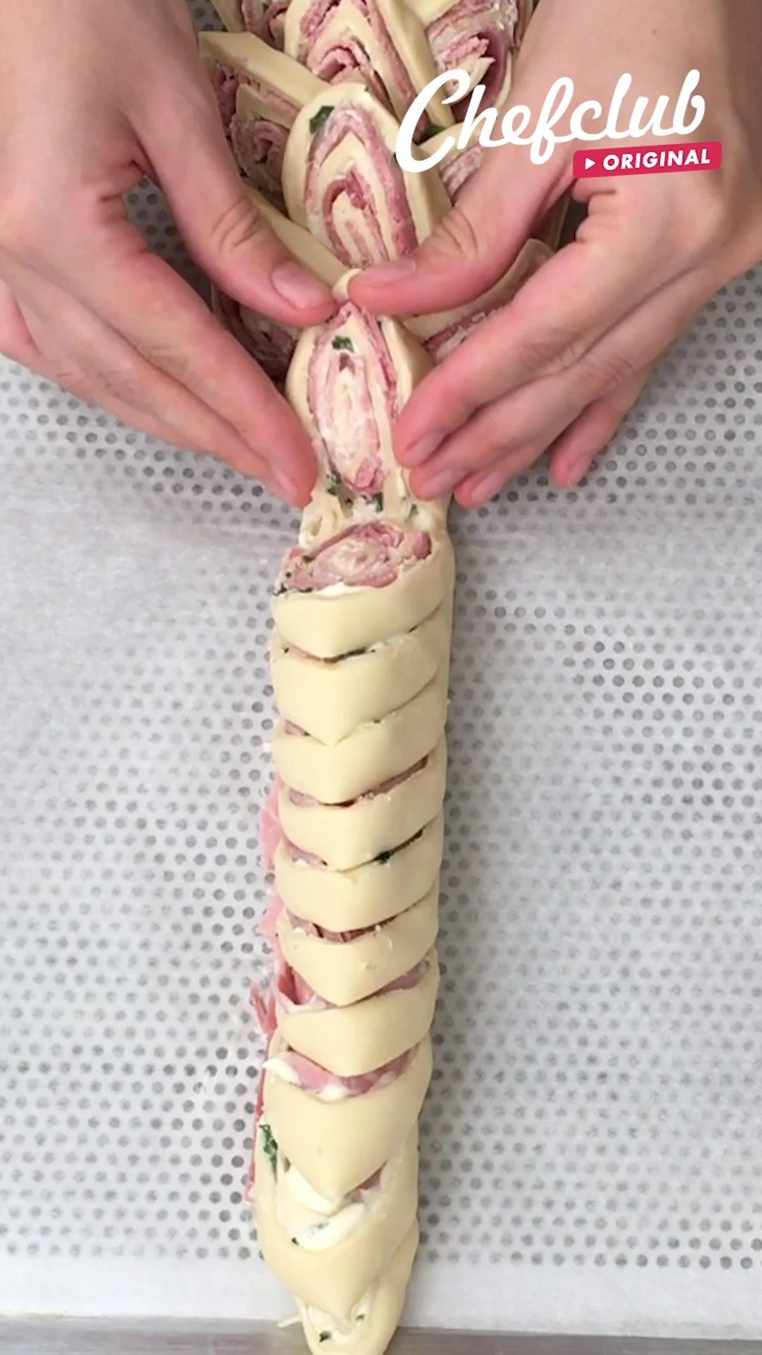 Käse-Schinken-Zopf