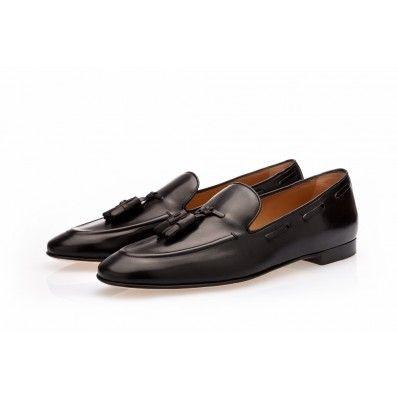 783e22eb307 PHILIPPE Nappa Black Slippers