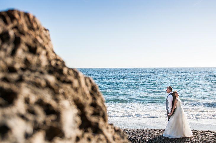 postboda en la playa de Granada