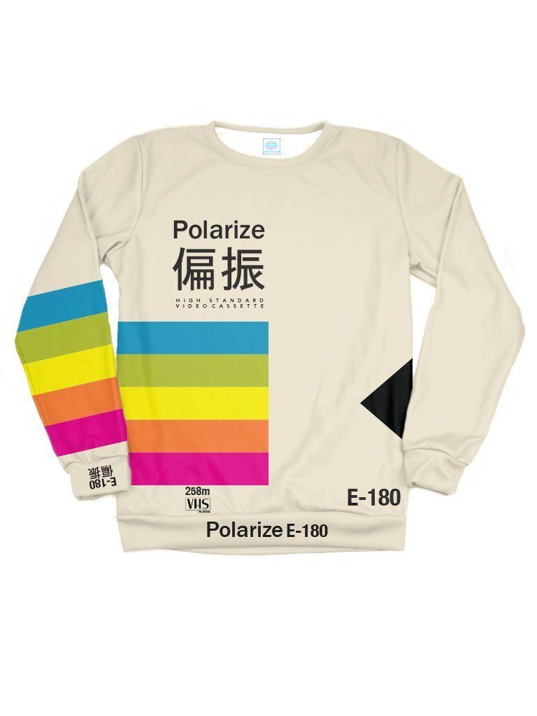 deb392c1f Polarize Sweatshirt 90s Retro Clothing, Men's Clothing, Vaporwave Clothing,  Vaporwave Fashion, Space
