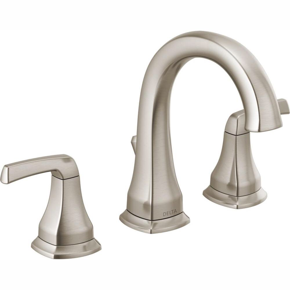 Photo of Delta Portwood 8 inches. Widely used 2-handle bathroom mixer in SpotShield brushed nickel 35770LF-SP – The Home Depot