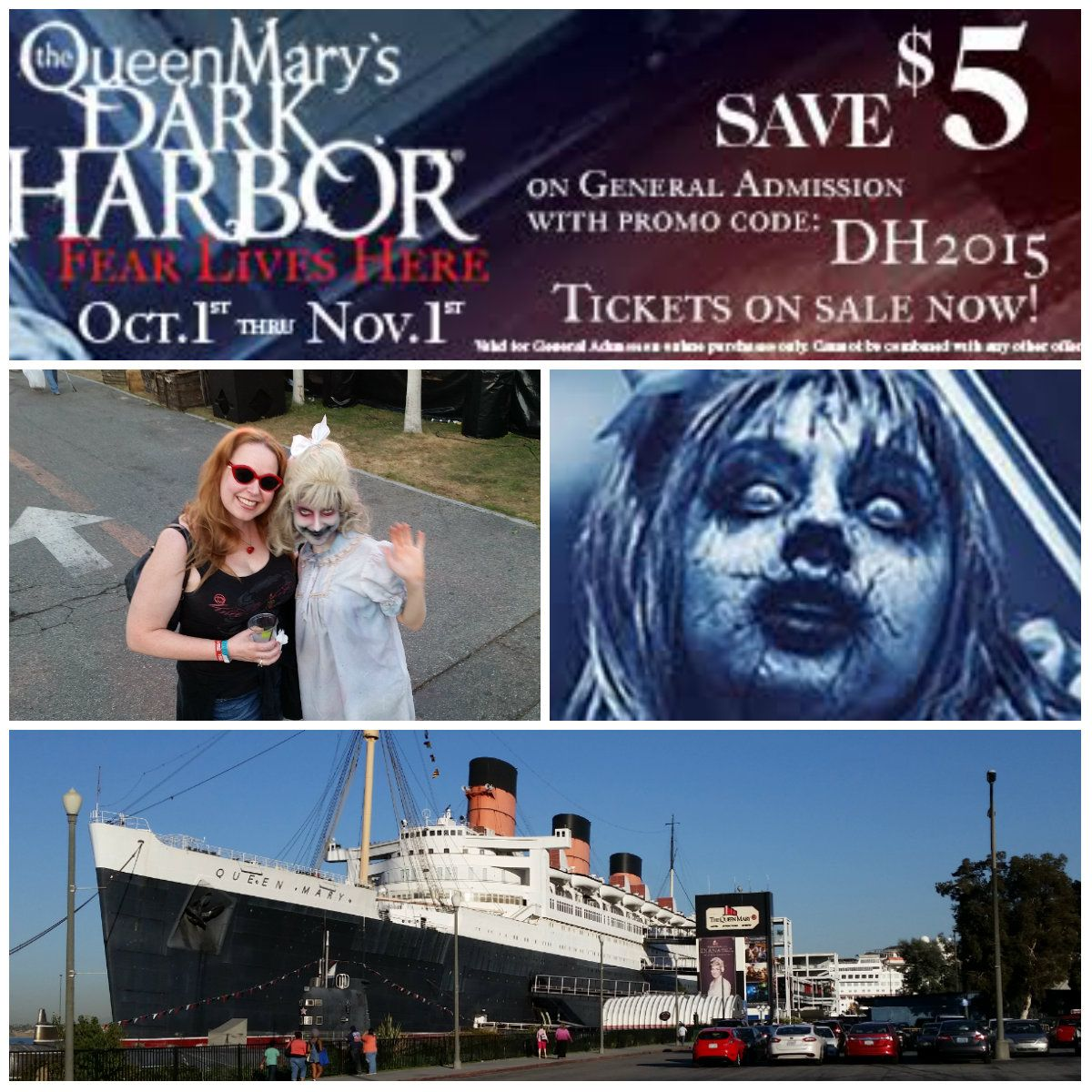 my favorite halloween event of the year, queen mary's dark harbor is