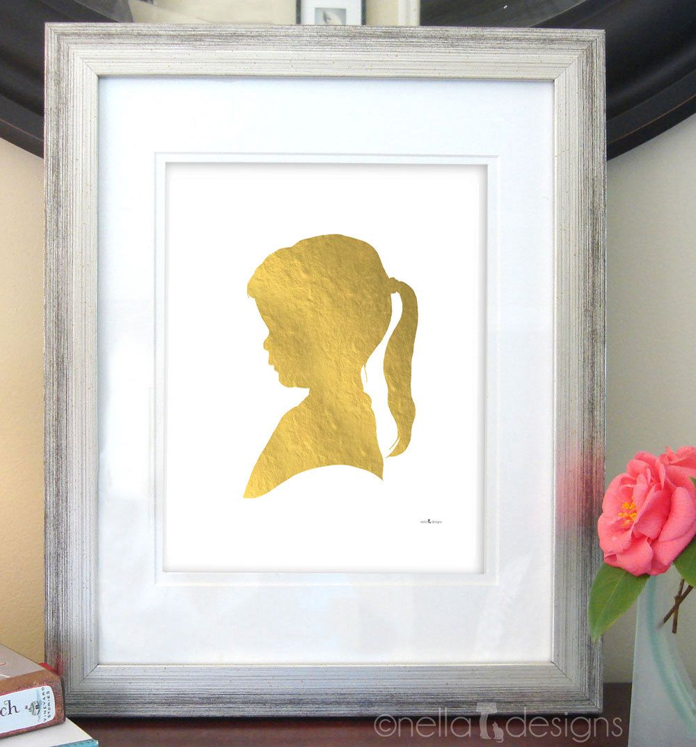 Old Fashioned Silhouette Cameo Wall Art Picture Collection - Wall ...