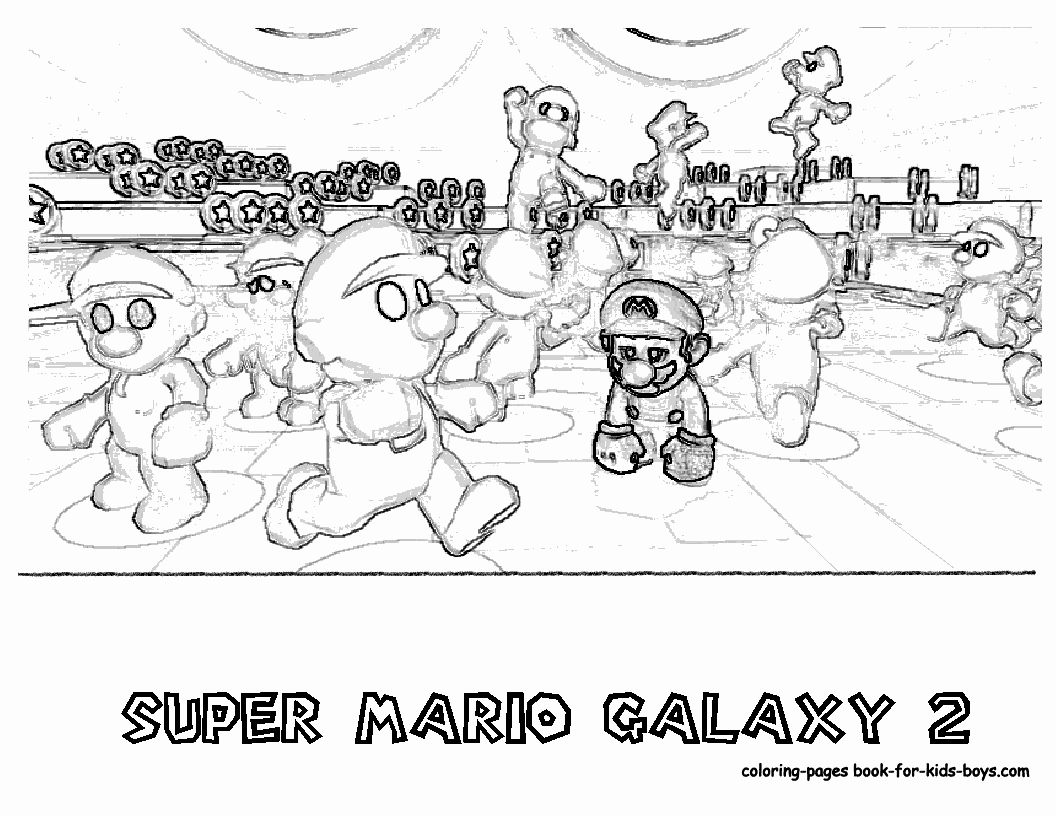 28 Super Mario Coloring Book In