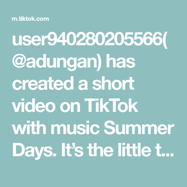 User940280205566 Adungan Has Created A Short Video On Tiktok With Music Summer Days It S The Little Things Original Song The Originals Piano Tutorial
