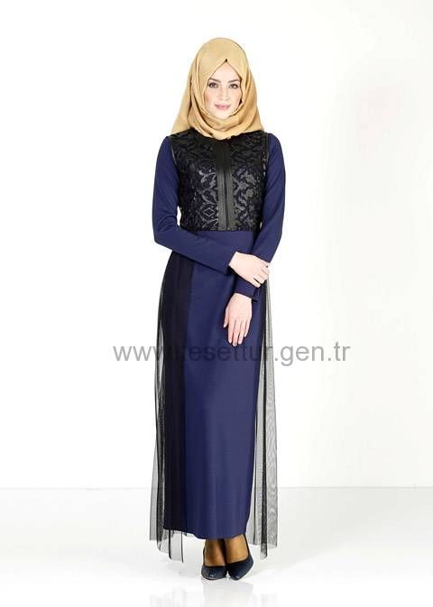 713276f322c33 Alvina 2015-2016 Sonbahar Kış Elbise Modelleri Model:60 | Muslimah ...