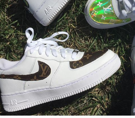 a595a1eca60 Classic Chocolate LV Air Force 1  Customs  - limetliss