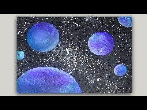 Galaxy Background On Canvas