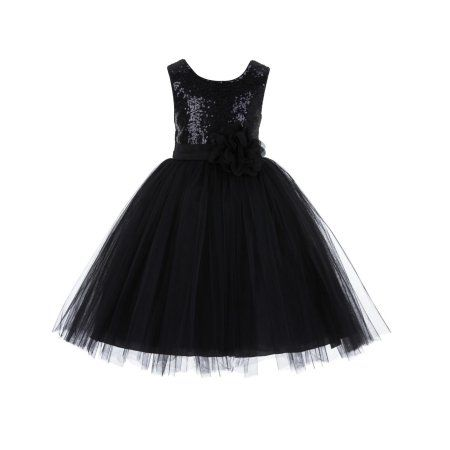 3013890065b Ekidsbridal Formal Sequins Bodice Ruffle Tulle Flower Girl Dress Bridesmaid  Wedding Pageant Toddler Recital Easter Holiday Communion Birthday Baptism  ...
