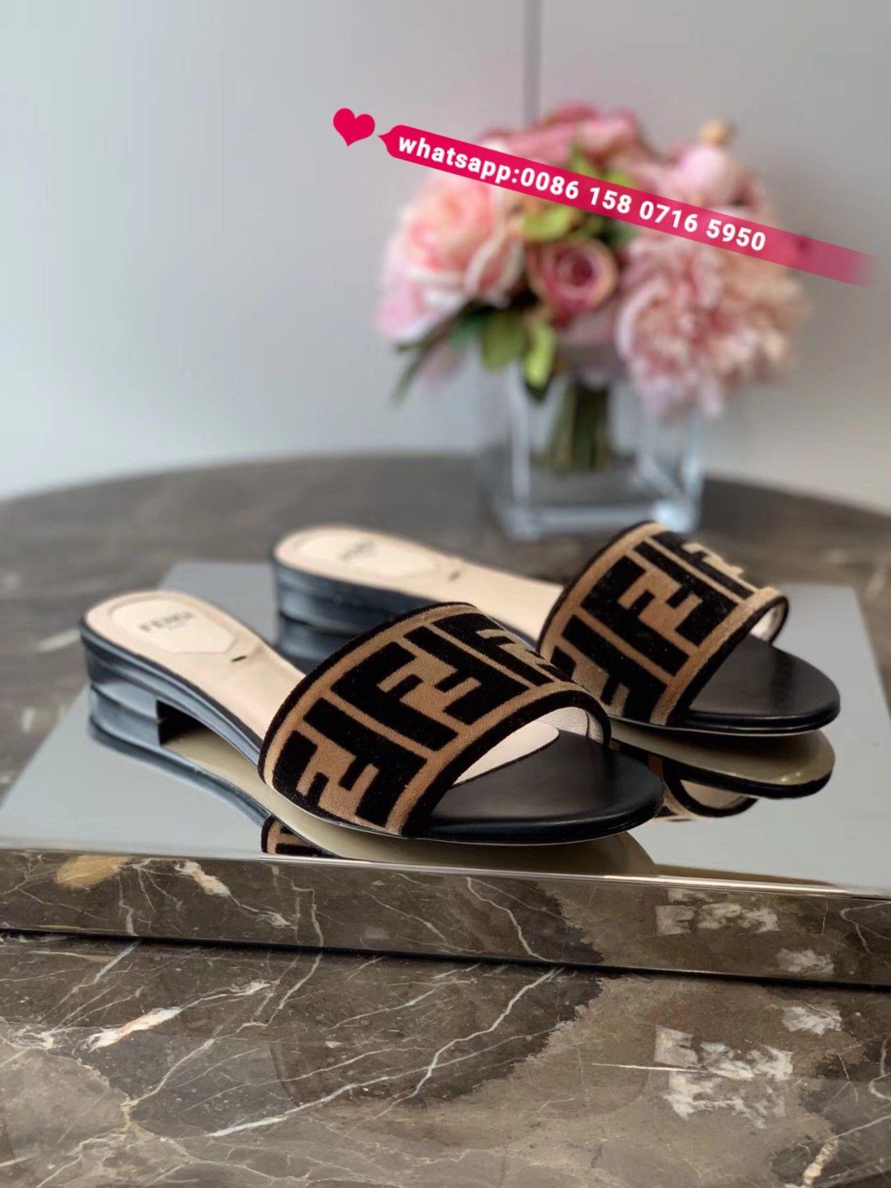 Fendi slides slippers women shoes