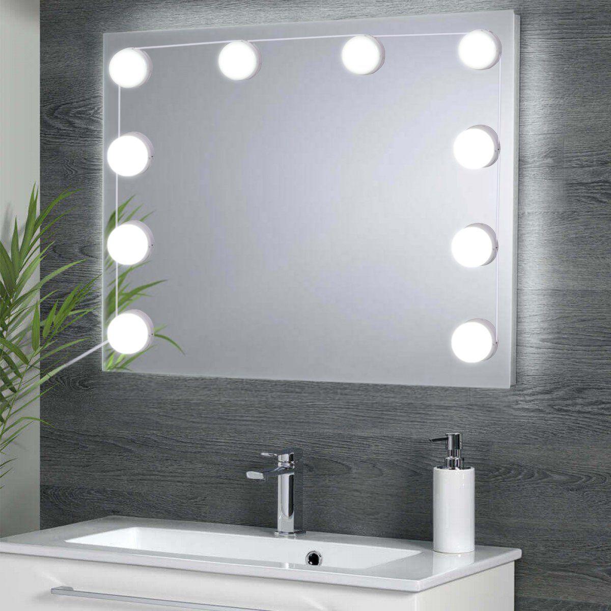 Spiegel Beleuchtung Dimmbar Led Spiegelleuchte 6500k Led Hollywood Stil Led Schminkspiegel Kit Kaltweiss Warmes Ama Beleuchtungsideen Led Schminkspiegel