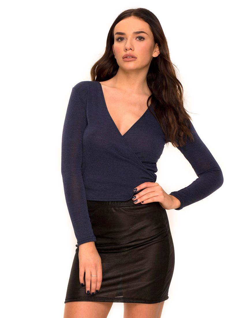 Wrap tops are the flattering shape of the season this classic long